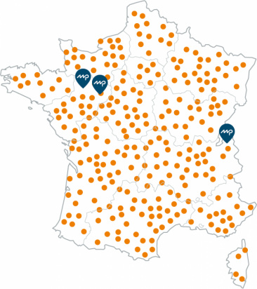 Cartographie du réseau distributeur Maine Clôtures