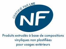 Marque NF profilés PVC portails