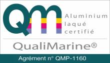 Aluminium label qualimarine
