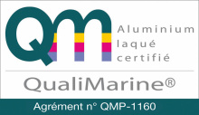 Aluminium label qualimarine