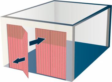 Porte de garage ouverture battante multi-vantaux