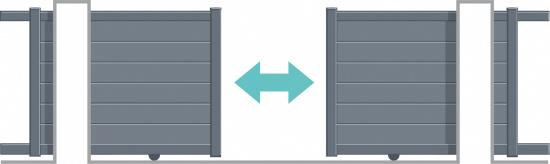 Portail coulissant double refoulement (uniquement sur ligne Active et série Ferronne)