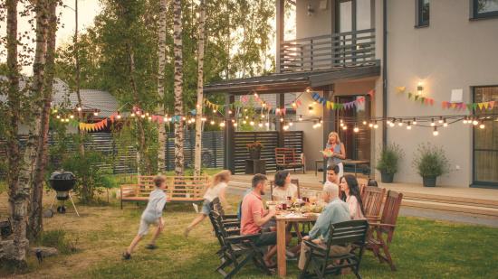 Salle à manger d'extérieur